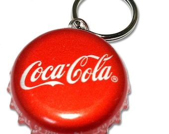 Coca Cola Bottle Cap Customizable ID Tag
