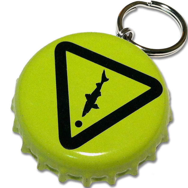 Dogfish Head Beer Bottle Cap Customizable ID Tag NEON YELLOW image 0