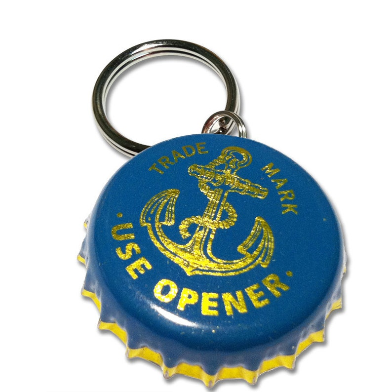 Anchor Steam Brewing Beer Bottle Cap Customizable ID Tag image 0