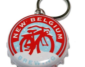 New Belgium Brewing Winter Beer Bottle Cap Customizable ID Tag