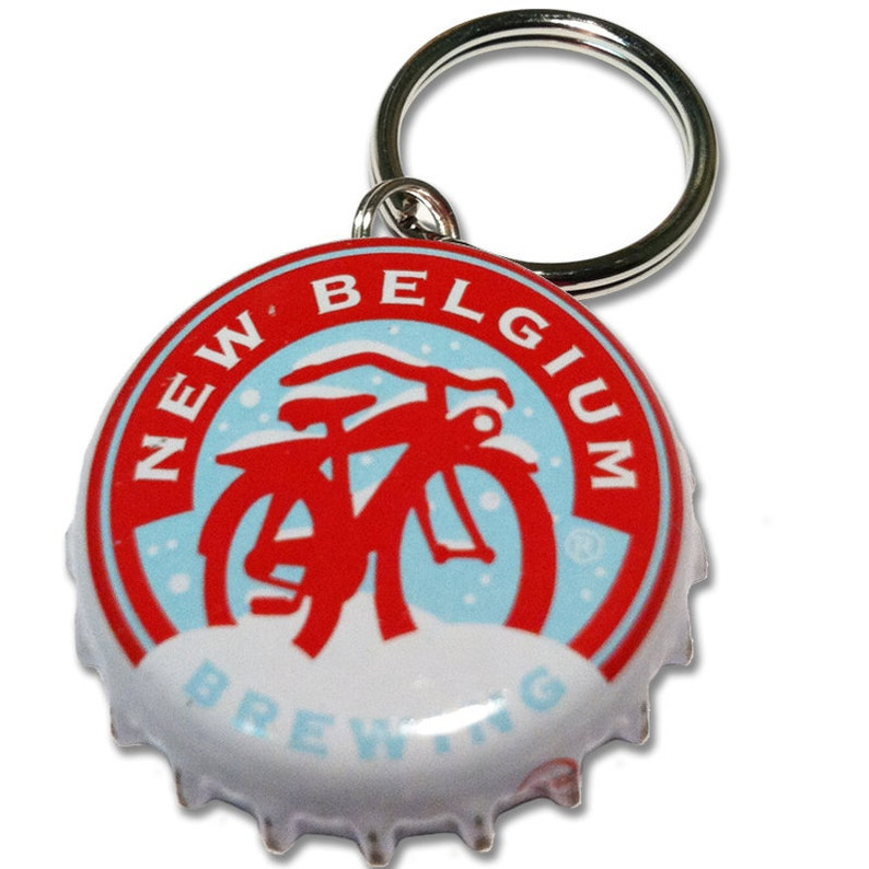 New Belgium Brewing Winter Beer Bottle Cap Customizable ID Tag image 0