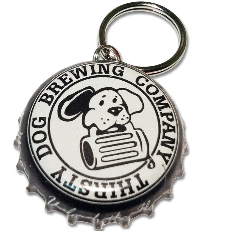 Thirsty Dog Brewing Beer Bottle Cap Customizable ID Tag image 0