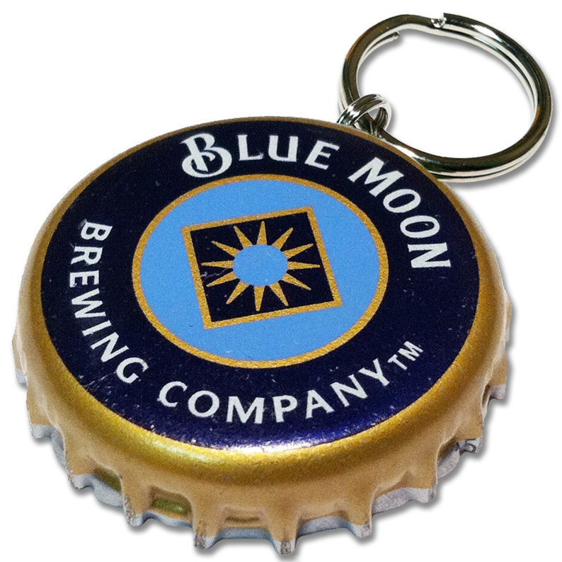 Beer Bottle Cap ID Tag  Blue Moon Brewing image 0