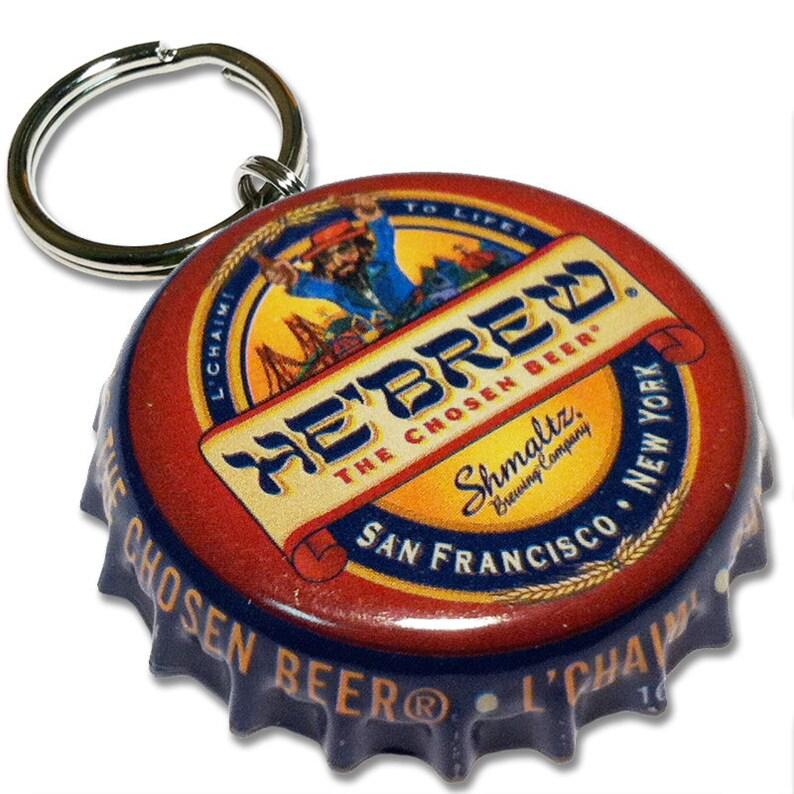 Beer Bottle Cap ID Tag  He'Brew Rye IPA image 0