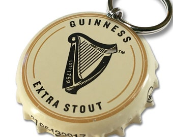 Beer Bottle Cap ID Tag - Guinness