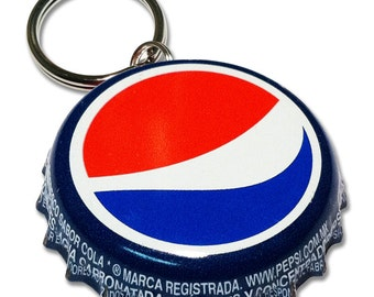 Pepsi Cola Bottle Cap Customizable ID Tag