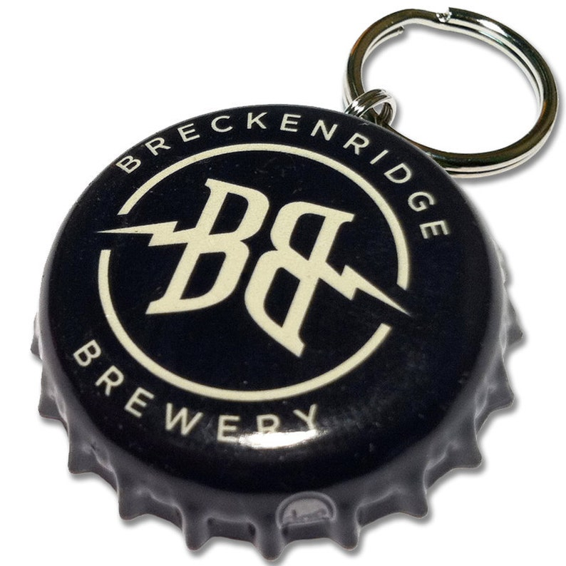 Beer Bottle Cap ID Tag  Breckenridge Brewery image 0
