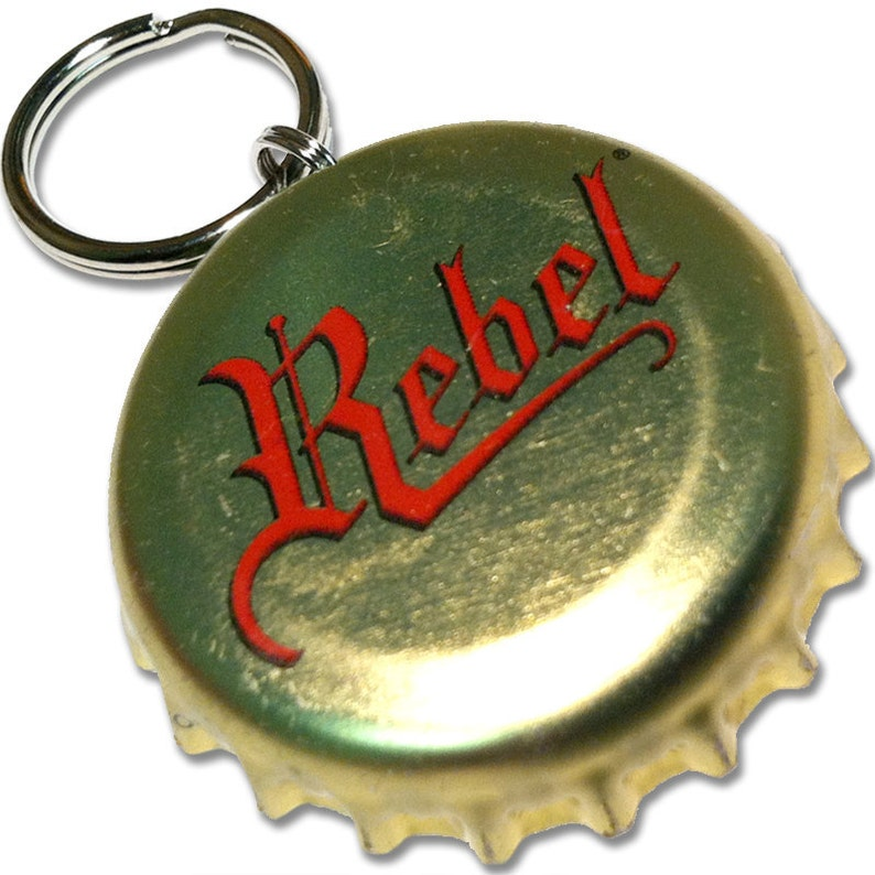 Rebel Beer Bottle Cap Customizable ID Tag image 0