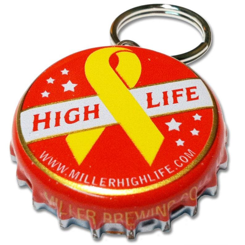 Beer Bottle Cap ID Tag  Miller High Life image 0