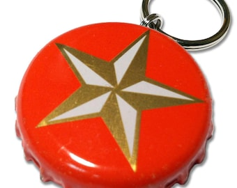Lone Star Beer Bottle Cap Customizable ID Tag