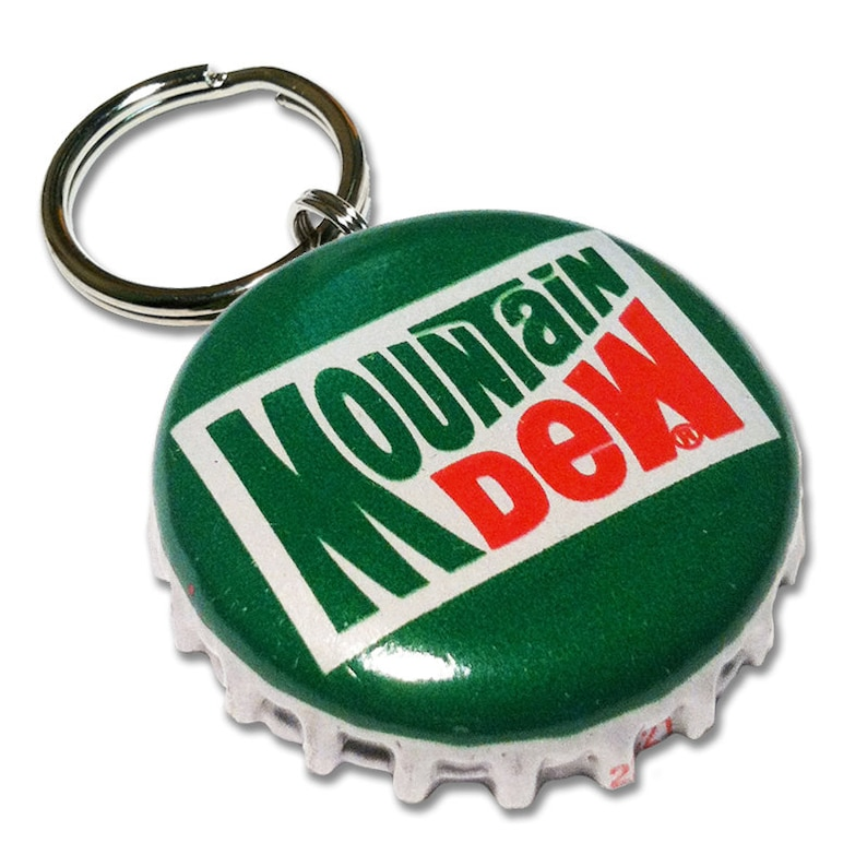 Mountain Dew Bottle Cap Customizable ID Tag image 0