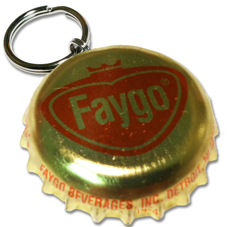 Faygo Soda Bottle Cap Customizable ID Tag image 0