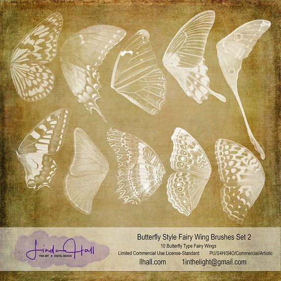 Butterfly Style Fairy Wing Brushes Set 2 Etsy