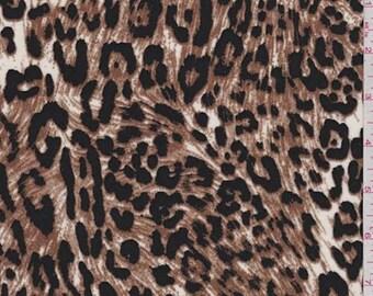 55a5dcfe1d2 White Brown Jaguar Print Challis