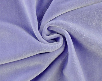Lavender Purple Stretch Velvet, Fabric By The Yard