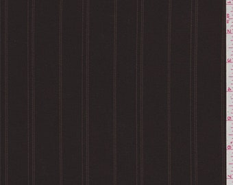 Chestnut Brown Stripe Suiting, Fabric By The Yard
