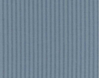 Faded Blue Stripe, Fabric By The Yard