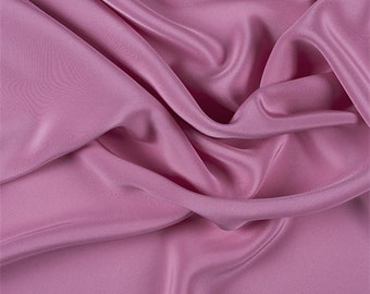 Hot Pink 4 Ply Silk Crepe, Fabric By The Yard