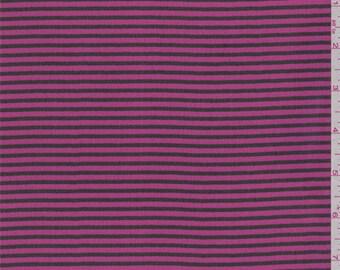 Hot Pink/Black Stripe Chiffon, Fabric By The Yard
