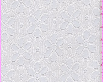 White Daisy Lace, Fabric By The Yard