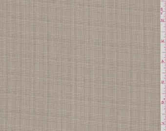 Light Brown Plaid Suiting, Fabric By The Yard