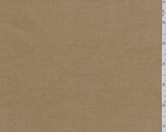 Camel Brown Stretch Corduroy, Fabric By The Yard