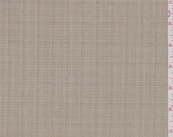 Tan Plaid Polyester, Fabric By The Yard