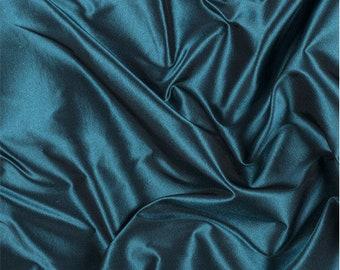 Teal Silk Taffeta, Fabric By The Yard