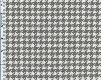 Taupe gray/Ecru Stretch Houndstooth, Fabric By The Yard