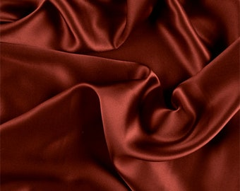 Copper Silk Charmeuse, Fabric By The Yard