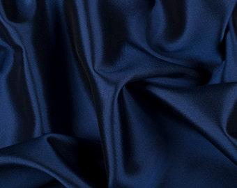 "58"" Wide Silk Wool Blend Gabardine Iridescent Navy Blue Black by the yard (9900MSW46)"