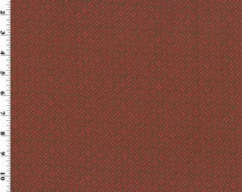Red/Brown Basket Texture Print Home Decorating Fabric, Fabric By The Yard
