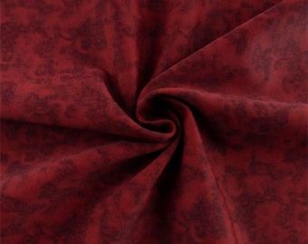 Red Texture Print Activewear Knit, Fabric By The Yard