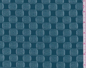 Teal Blue Crochet Lace, Fabric By The Yard