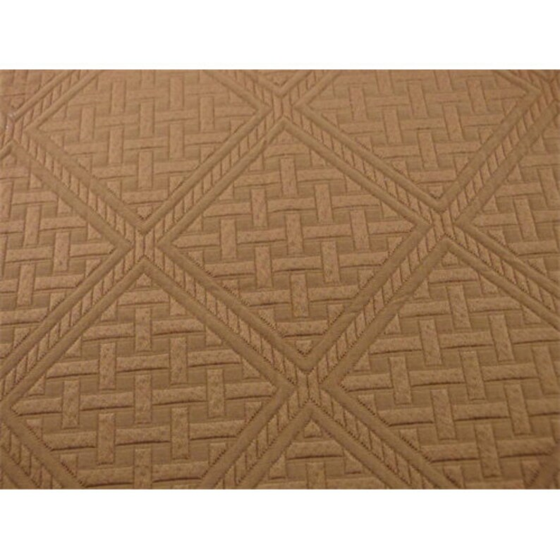 Rust Brown Lattice Cloque Home Decorating Fabric Fabric By The Yard