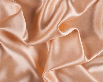 Peach Silk Charmeuse, Fabric By The Yard