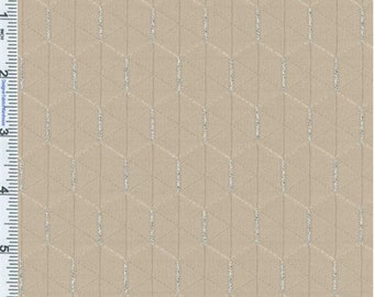 Beige Geometric Upholstery Fabric, Fabric By The Yard