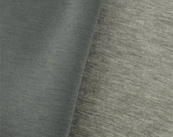 Heather Gray Modal Double Knit Jersey, Fabric By The Yard
