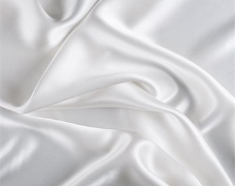 Ivory Stretch Silk Charmeuse, Fabric By The Yard