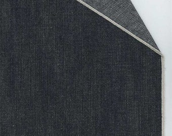 Ink Blue Selvedge Denim, Fabric By The Yard