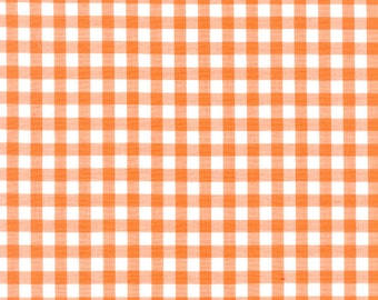 """60"""" Gingham 1/4 Inch Check Orange By the Yard (GC1409)"""