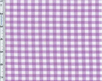 Purple Gingham Check Shirting, Fabric By The Yard