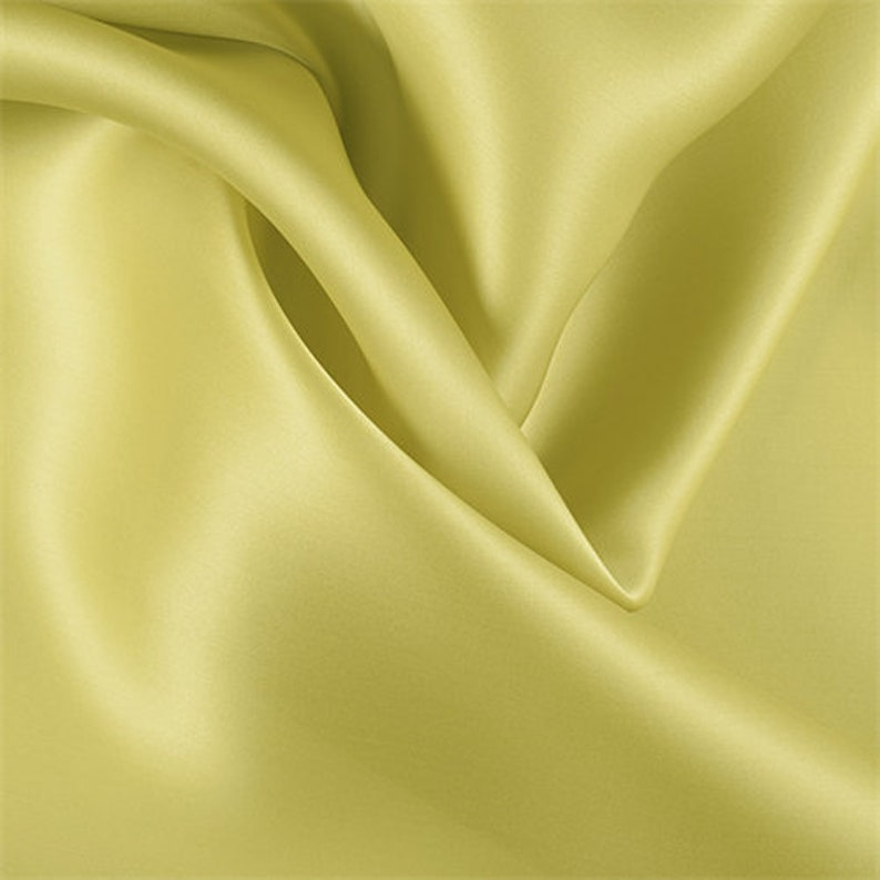 Fabric By The Yard Chartreuse Silk Satin Organza
