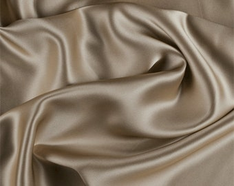 Bronze Silk Charmeuse, Fabric By The Yard