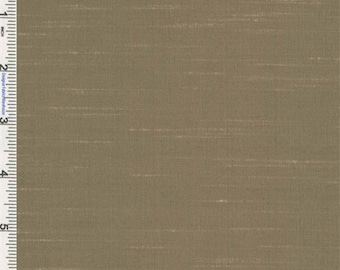 Otter Brown Iridescent Shantung Drapery Fabric, Fabric By The Yard