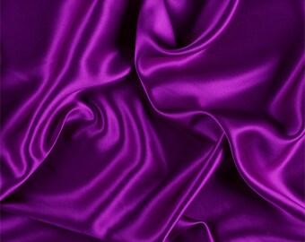 Grape Stretch Silk Charmeuse, Fabric By The Yard