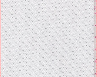 White Teardrop Lace, Fabric By The Yard