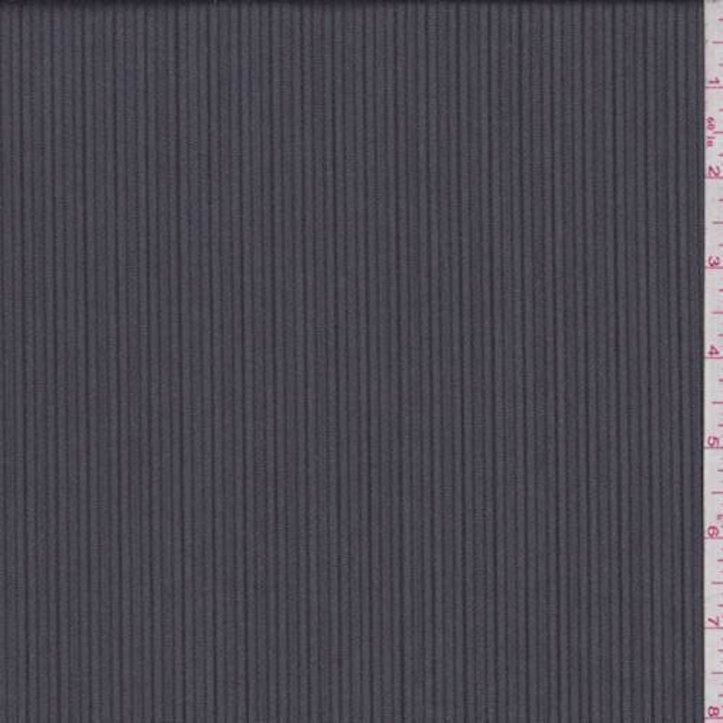Fabric By The Yard CharcoalBlack Stripe Wool Suiting