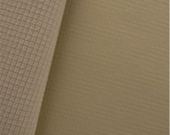 Gridded Soft Shell Fleece Ivory, Fabric By The Yard