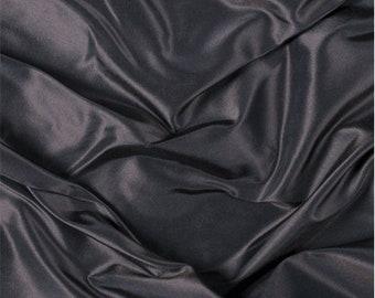 Dark Brown Silk Taffeta, Fabric By The Yard